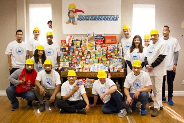 SuperBreakers Thanksgiving Food Donation!